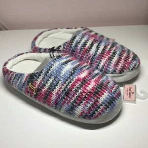 NWT Juicy Couture Wool Multicolor Slippers *M 7-8